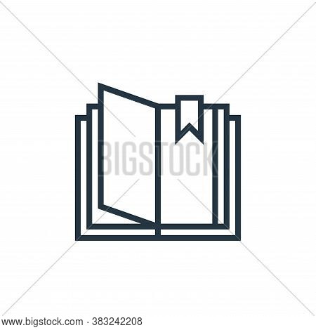 open book icon isolated on white background from book and document collection. open book icon trendy