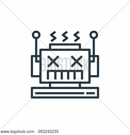 error icon isolated on white background from artificial intelligence collection. error icon trendy a