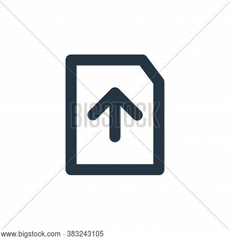file upload icon isolated on white background from px network and communication collection. file upl