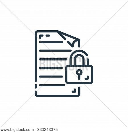 lock icon isolated on white background from documents collection. lock icon trendy and modern lock s