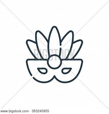 mask icon isolated on white background from carnival collection. mask icon trendy and modern mask sy