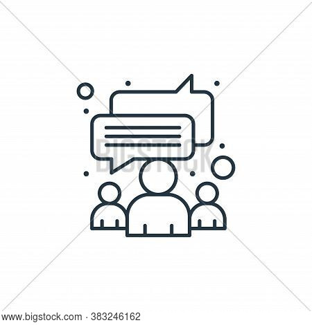 chat icon isolated on white background from strategy collection. chat icon trendy and modern chat sy