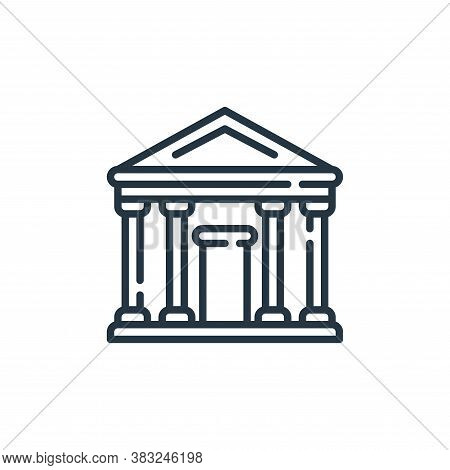 court icon isolated on white background from law and justice collection. court icon trendy and moder
