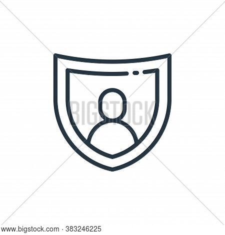 insurance icon isolated on white background from finance collection. insurance icon trendy and moder