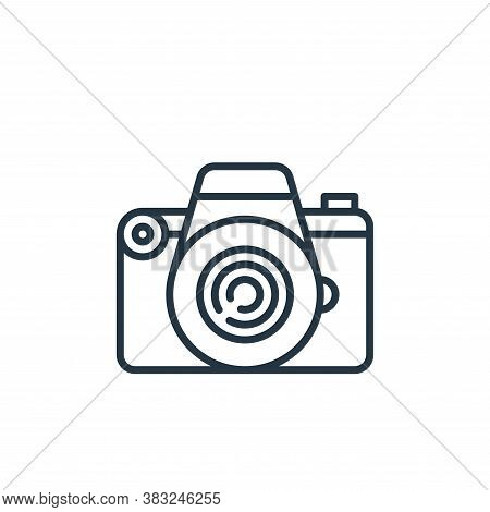photo camera icon isolated on white background from education collection. photo camera icon trendy a