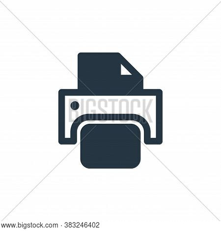 paper printer icon isolated on white background from printer and fax collection. paper printer icon