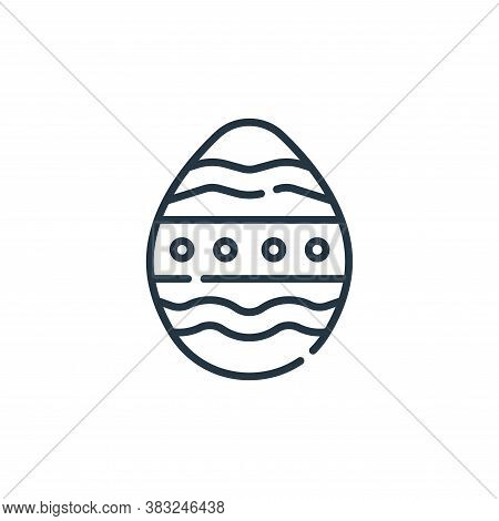 easter egg icon isolated on white background from spring collection. easter egg icon trendy and mode
