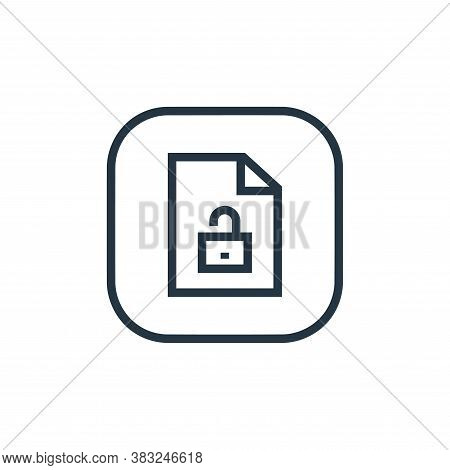 unlocked icon isolated on white background from files and folders collection. unlocked icon trendy a