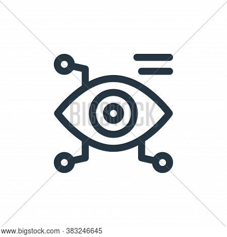 eye scanner icon isolated on white background from smart home collection. eye scanner icon trendy an