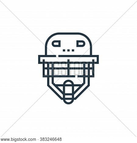 head protector icon isolated on white background from baseball collection. head protector icon trend