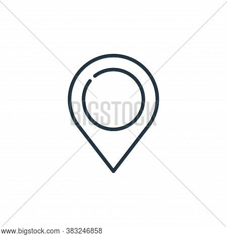 pin icon isolated on white background from education collection. pin icon trendy and modern pin symb