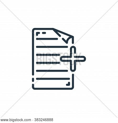 add icon isolated on white background from documents collection. add icon trendy and modern add symb