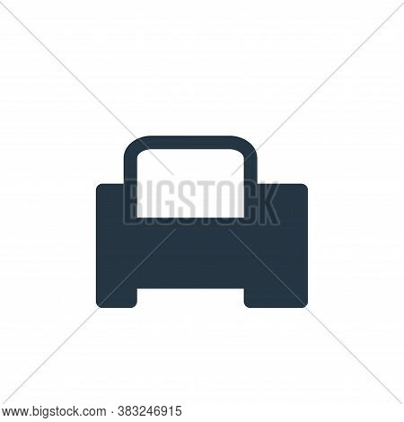 computer printer icon isolated on white background from printer and fax collection. computer printer