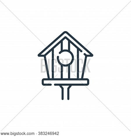 birdhouse icon isolated on white background from spring collection. birdhouse icon trendy and modern