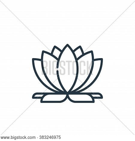lotus icon isolated on white background from education collection. lotus icon trendy and modern lotu