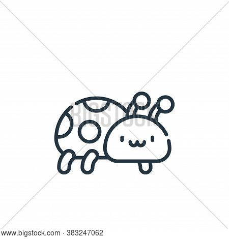 ladybug icon isolated on white background from spring collection. ladybug icon trendy and modern lad