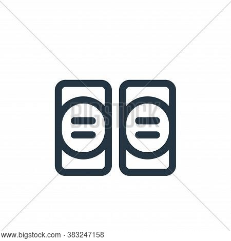 elbow pads icon isolated on white background from american football collection. elbow pads icon tren