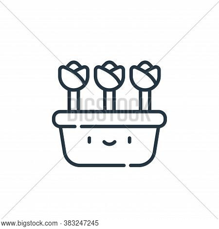 flower pot icon isolated on white background from spring collection. flower pot icon trendy and mode