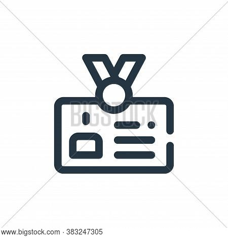 id card icon isolated on white background from labour day collection. id card icon trendy and modern