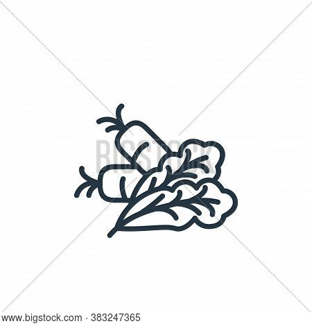 vegetables icon isolated on white background from health collection. vegetables icon trendy and mode
