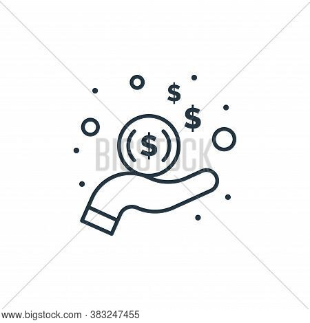 income icon isolated on white background from taxes collection. income icon trendy and modern income