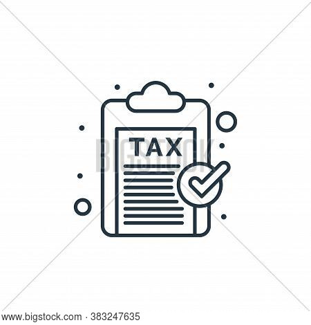 clipboard icon isolated on white background from taxes collection. clipboard icon trendy and modern