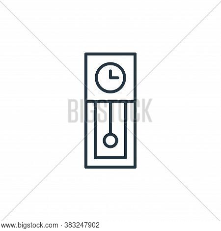 grandfather clock icon isolated on white background from antique collection. grandfather clock icon
