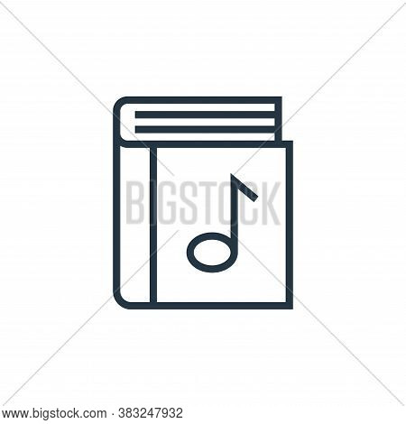 music book icon isolated on white background from book and document collection. music book icon tren