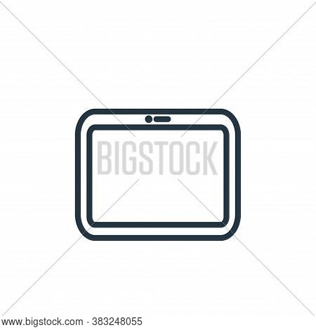 tablet icon isolated on white background from electronic devices outline collection. tablet icon tre
