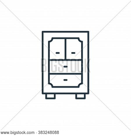 cabinet icon isolated on white background from antique collection. cabinet icon trendy and modern ca