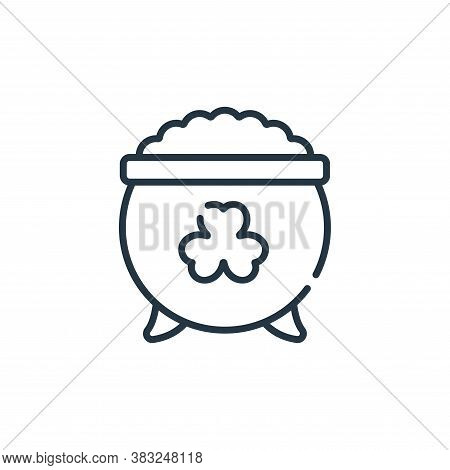gold pot icon isolated on white background from ireland collection. gold pot icon trendy and modern