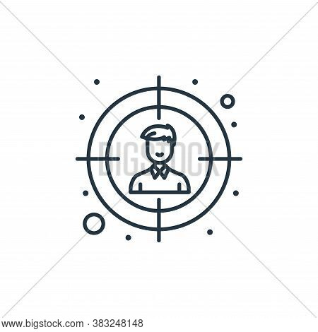 audience icon isolated on white background from strategy collection. audience icon trendy and modern