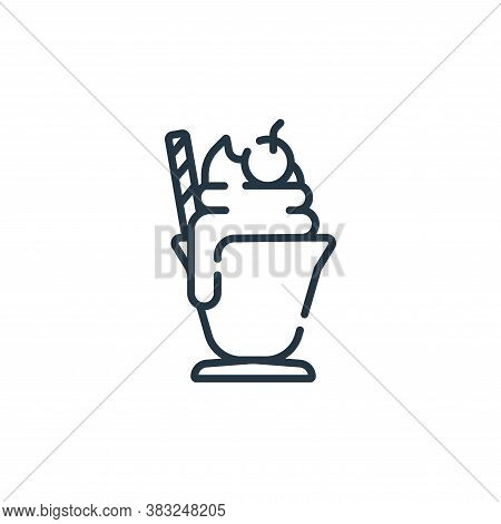 milkshake icon isolated on white background from spring collection. milkshake icon trendy and modern