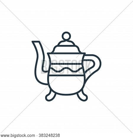 teapot icon isolated on white background from antique collection. teapot icon trendy and modern teap