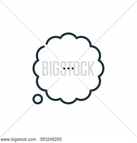 thinking icon isolated on white background from education collection. thinking icon trendy and moder