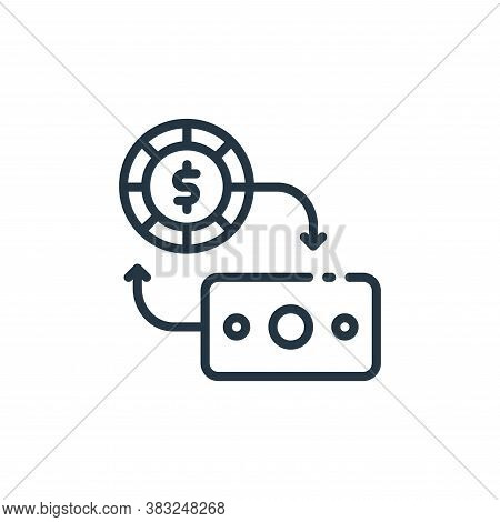 money exchange icon isolated on white background from finance collection. money exchange icon trendy