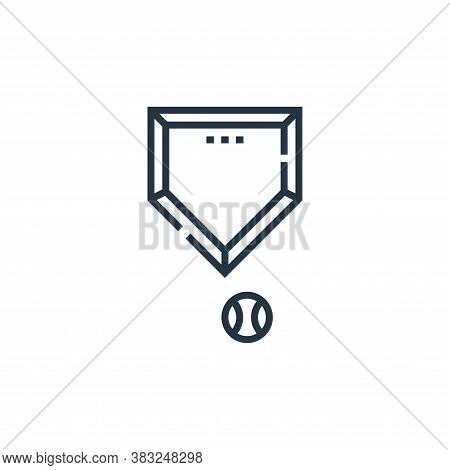 base icon isolated on white background from baseball collection. base icon trendy and modern base sy