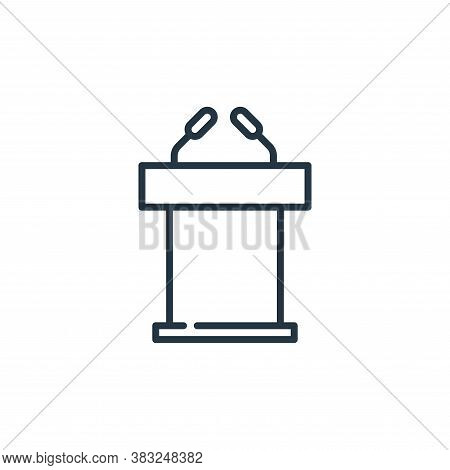 speech icon isolated on white background from education collection. speech icon trendy and modern sp