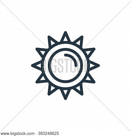 sun icon isolated on white background from spring collection. sun icon trendy and modern sun symbol