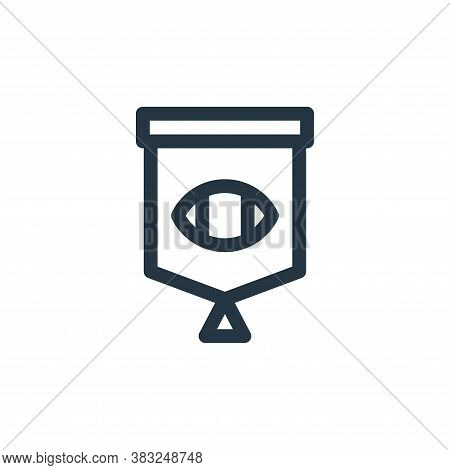 pennant icon isolated on white background from american football collection. pennant icon trendy and