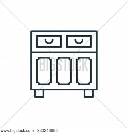 cupboard icon isolated on white background from antique collection. cupboard icon trendy and modern