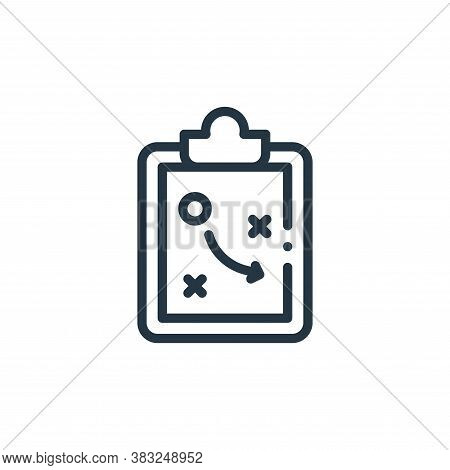 strategy icon isolated on white background from american football collection. strategy icon trendy a
