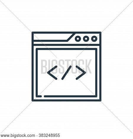 coding icon isolated on white background from education collection. coding icon trendy and modern co