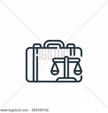suitcase icon isolated on white background from law and justice collection. suitcase icon trendy and