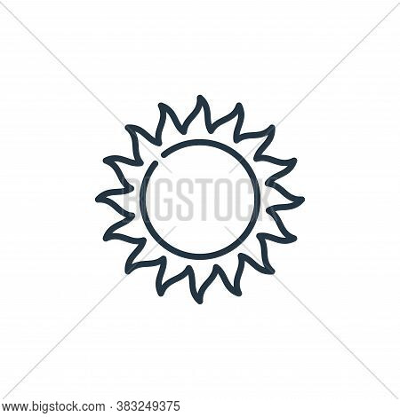 sun icon isolated on white background from education collection. sun icon trendy and modern sun symb