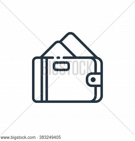 wallet icon isolated on white background from finance collection. wallet icon trendy and modern wall