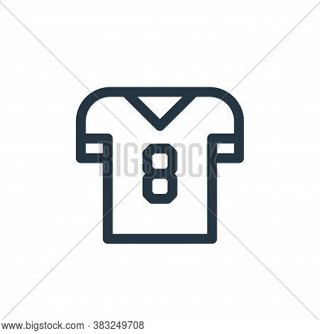 jersey icon isolated on white background from american football collection. jersey icon trendy and m