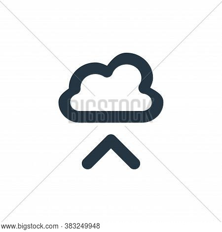 cloud upload icon isolated on white background from px network and communication collection. cloud u