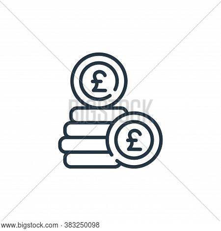 coins icon isolated on white background from ireland collection. coins icon trendy and modern coins