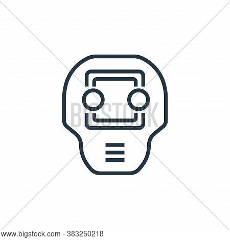 cyborg icon isolated on white background from artificial intelligence collection. cyborg icon trendy